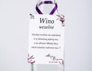 zawieszka na wino weselne